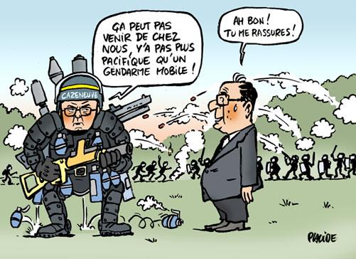 Placide mort de r mi fraisse caus e par une grenade des - Gendarme dessin ...