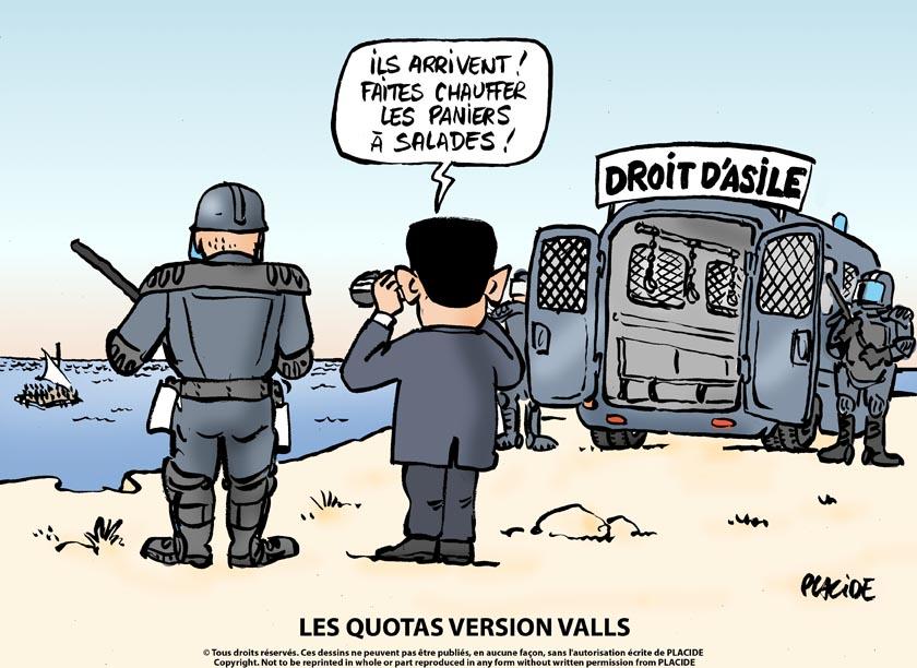 Exceptionnel Humour - Migrants : Le droit d'asile selon Valls - 18 Mai 2015  XJ46