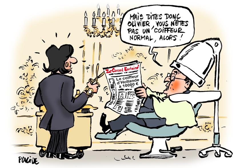 Extrêmement Humour - Le coiffeur d'Hollande payé 9 895 euros brut par mois  CQ36