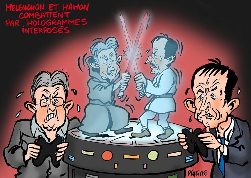 Le dessin du jour (humour en images) - Page 3 17-02-20-hamon-melenchon