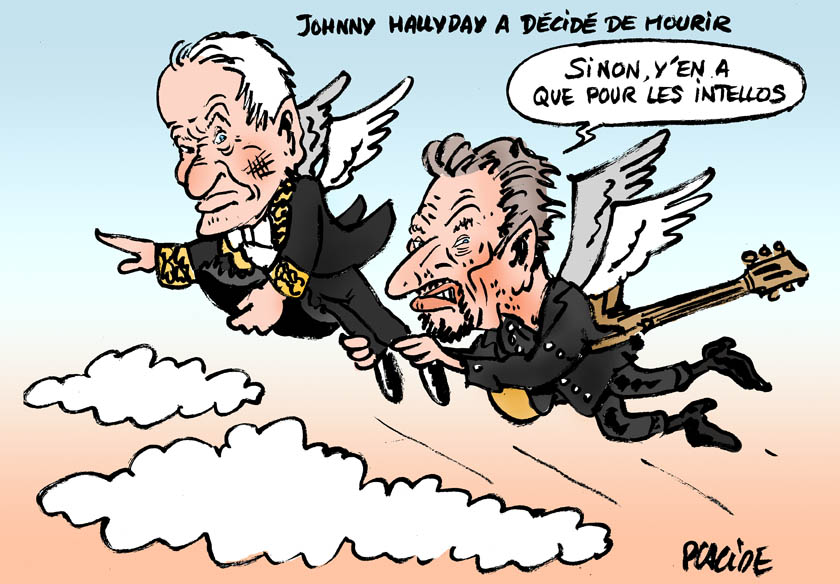 Humour Johnny Hallyday Le Plus Celebre Des Rockeurs Francais Est