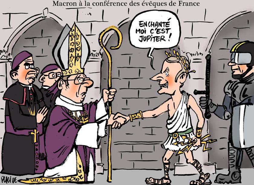 Macron à la conférence des évêques de France