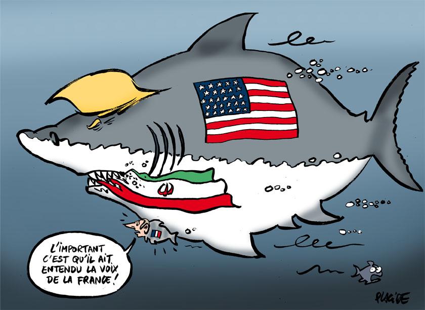 Le dessin du jour (humour en images) - Page 16 18-05-09-trump-macron