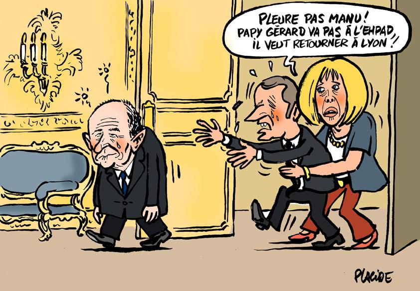 Le dessin du jour (humour en images) - Page 19 18-10-02-collomb_macron_brigitte