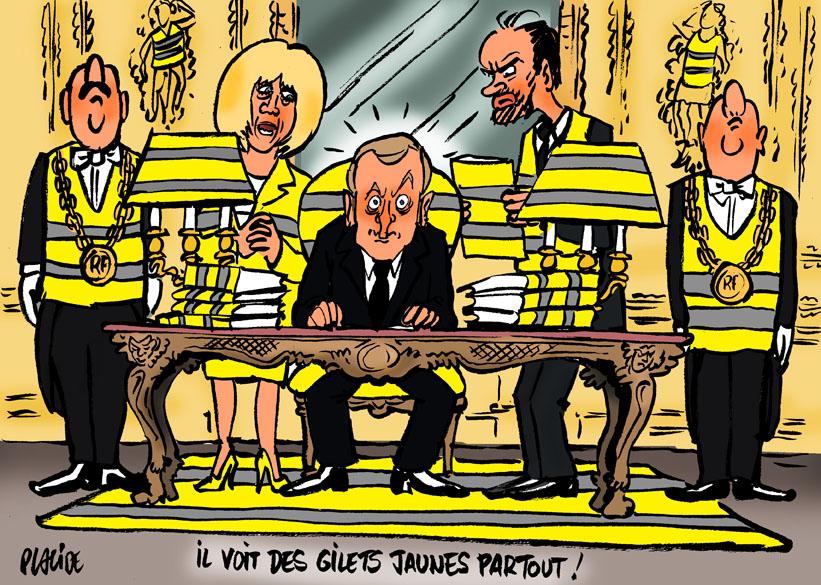 Humour Macron Toujours Empetre Dans Le Mouvement Des Gilets Jaunes