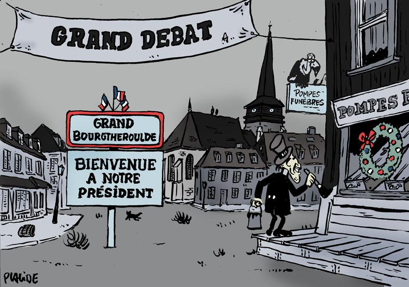 Le dessin du jour (humour en images) - Page 22 19-01-15-macron-debat
