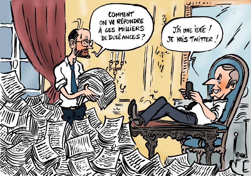 Macron s'exprimera ce soir à 20 heures 19-04-14-macron-philippe