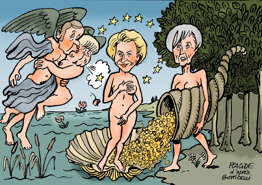 Le dessin du jour (humour en images) - Page 27 19-07-03-macron-merkel-lagarde-vonderleyen