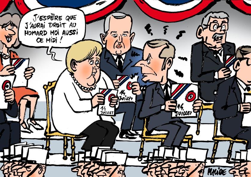 Le dessin du jour (humour en images) - Page 27 19-07-14-macron-merkel