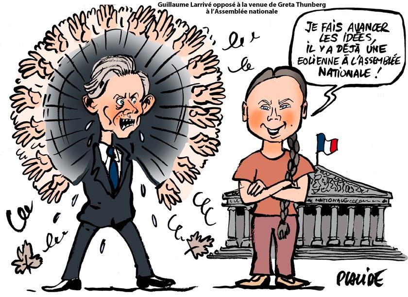 Le dessin du jour (humour en images) - Page 27 19-07-23-Larrive-Thunberg